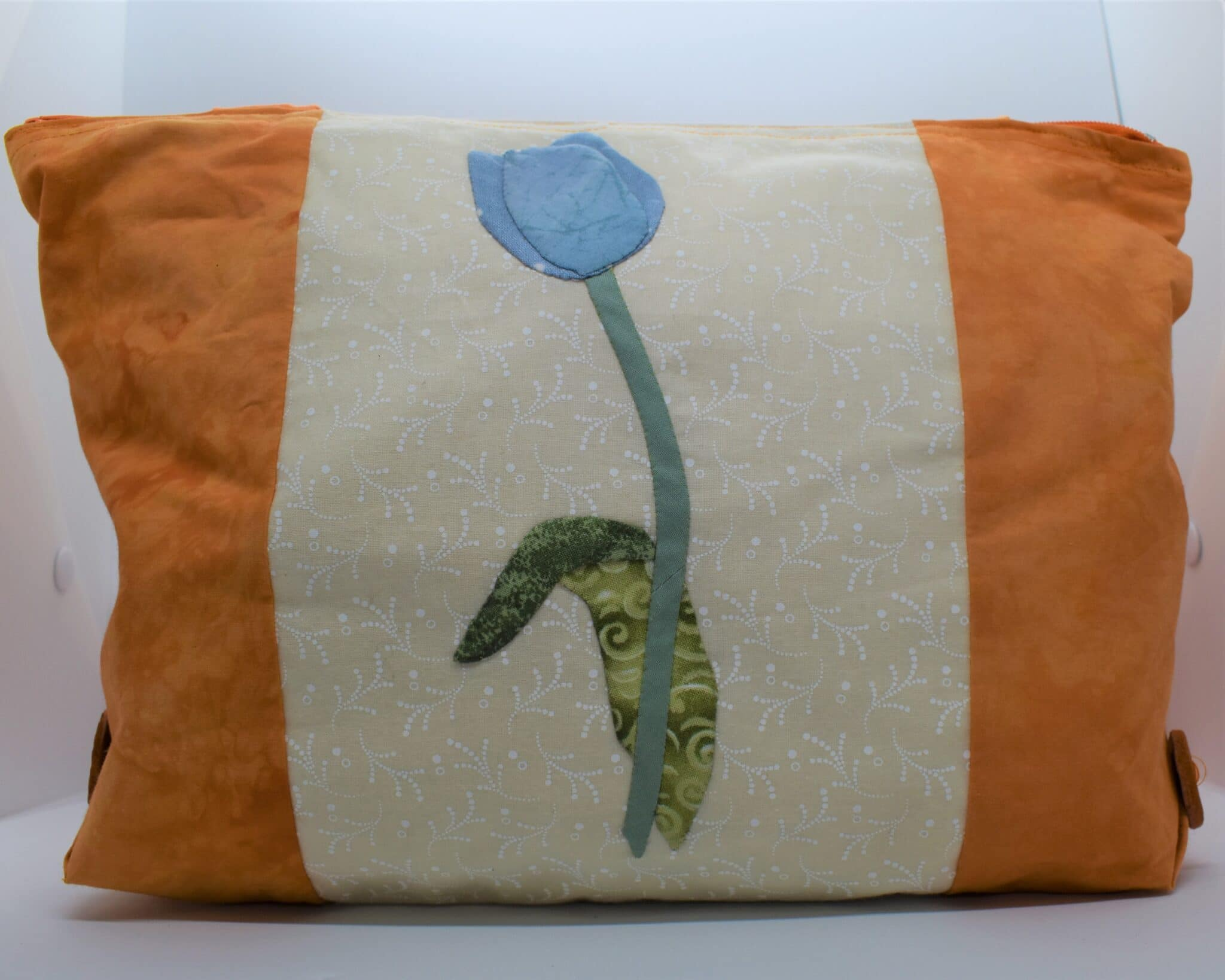 Small Blue Tulip Handbag By Helen Macqueen Textile Art