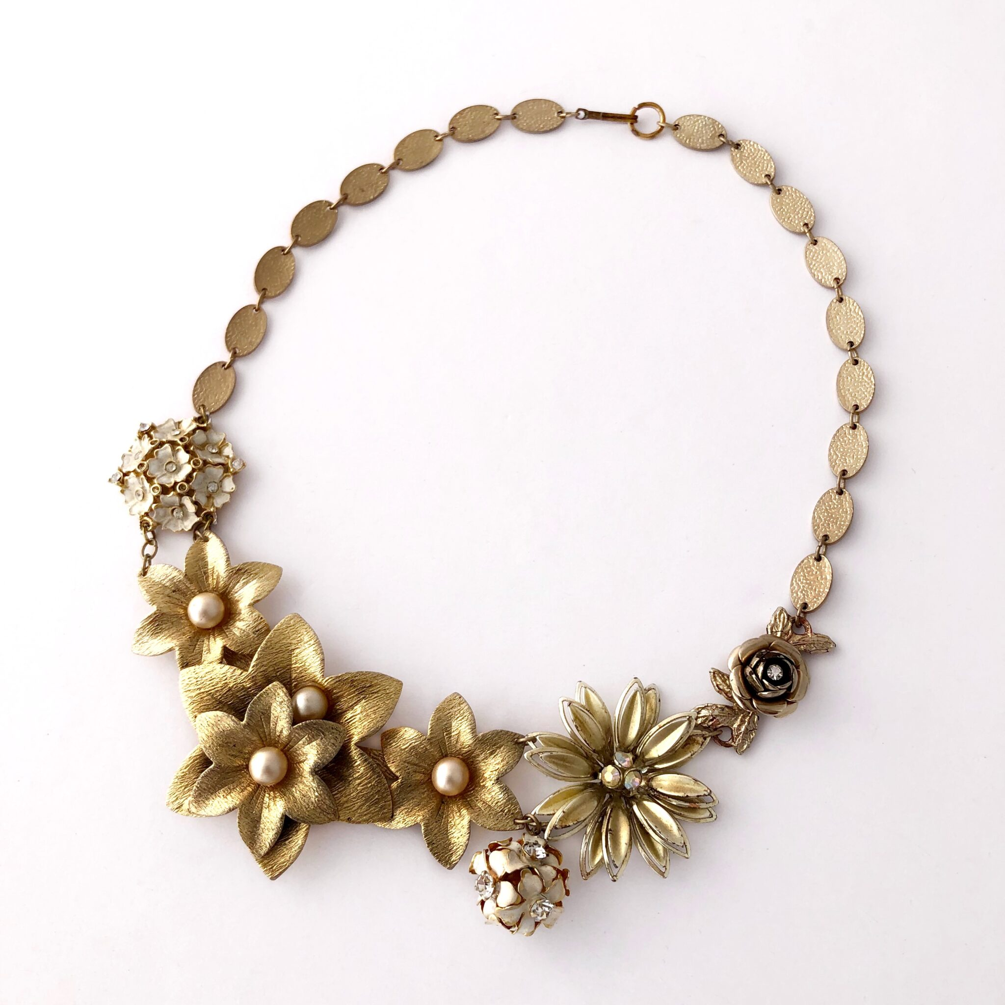 """Fleur D'Or"" Vintage Statement Choker By My Vintage Obsession"