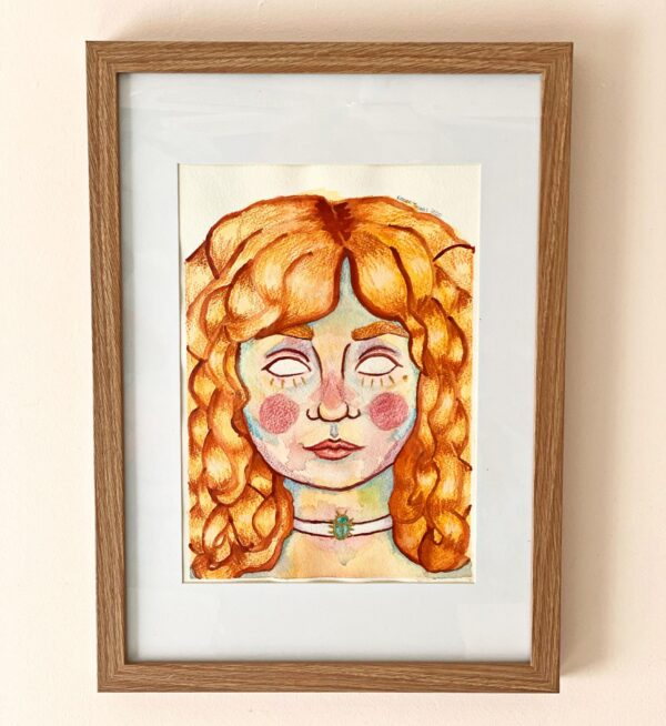 porcelain-self-portrait-original-watercolour-painting-by-rianna-thomas-art-by-Rianna Thomas Art