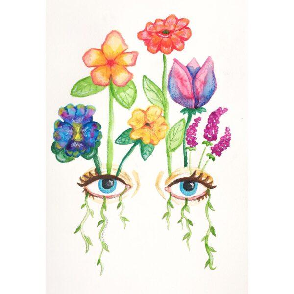 watch-me-bloom-original-watercolour-painting-by-rianna-thomas-art-by-Rianna Thomas Art