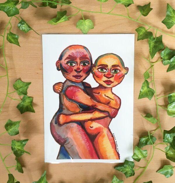 she-keeps-me-warm-a4-art-print-by-rianna-thomas-art-by-Rianna Thomas Art