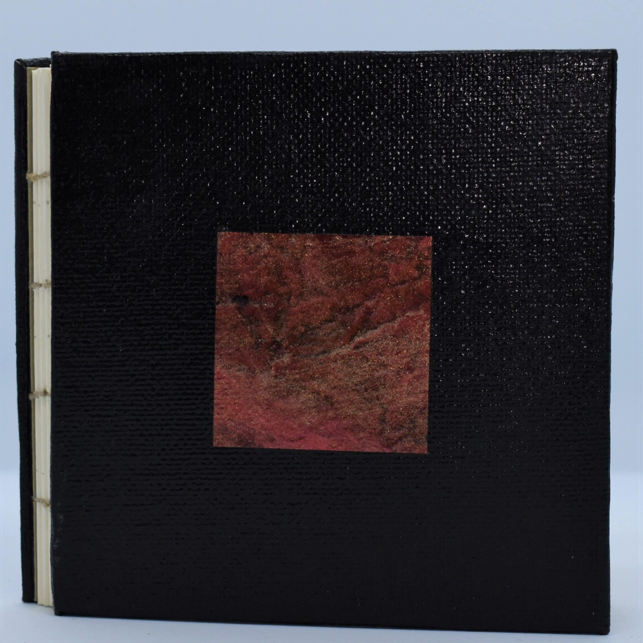 Red Earth Hand Bound Book By Helen Macqueen Textile Art