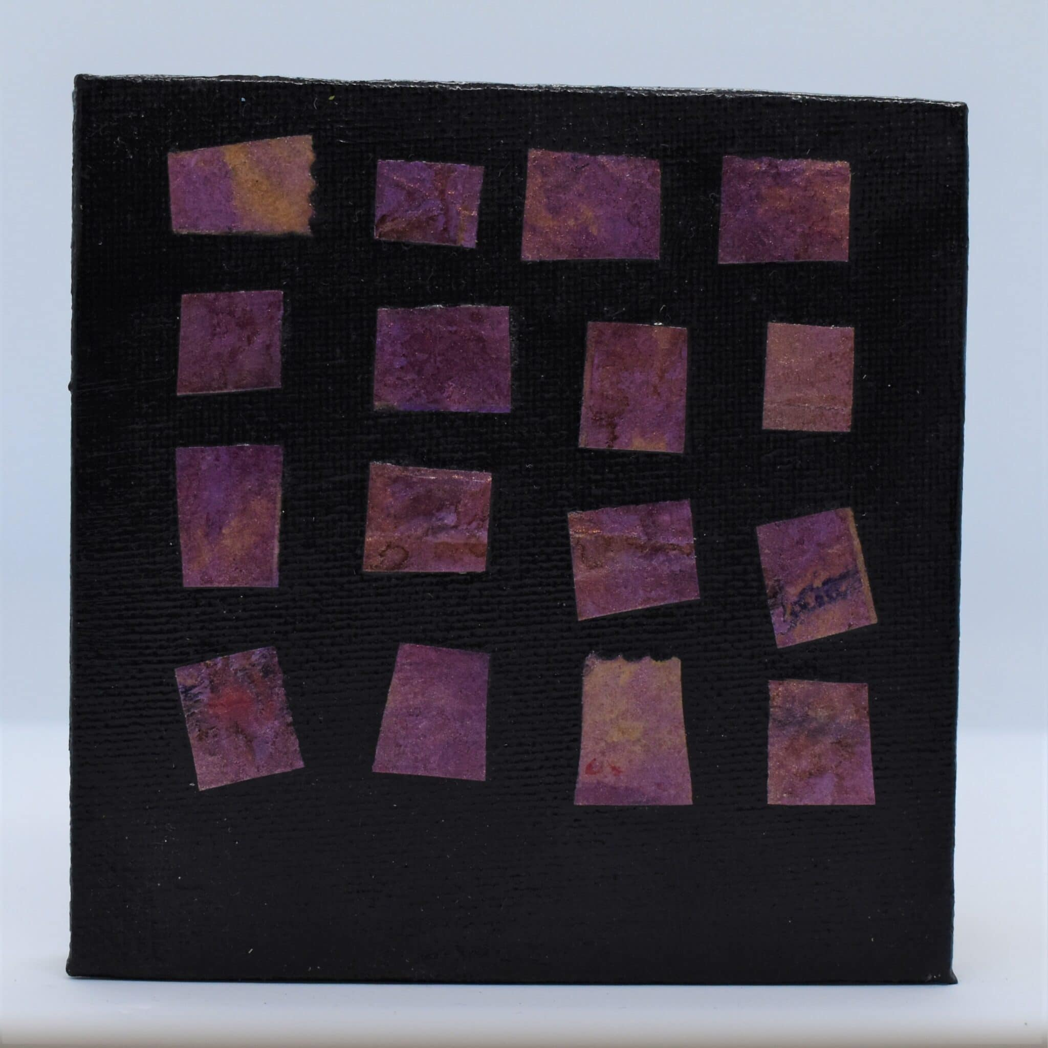 Purple Squares Hand Bound Book By Helen Macqueen Textile Art