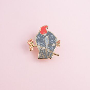 gang-gang-cockatoo-pair-enamel-pin-by-oh-jessica-jessica-by-ohjessica
