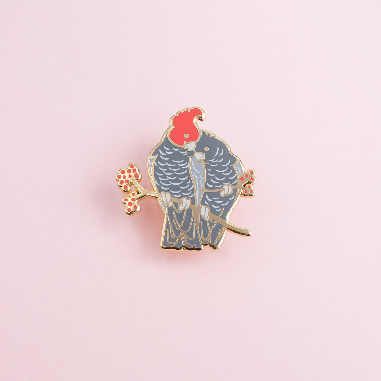 Gang-Gang Cockatoo Pair Enamel Pin By Oh Jessica Jessica