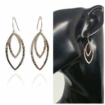 silver-double-marquise-drop-earrings-hammered-by-sterling-silver-925-by-sterlingsilver925