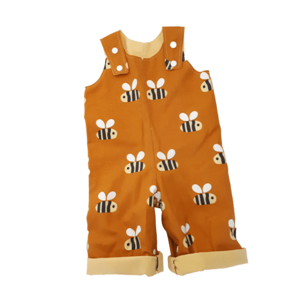 Children's Overalls Bees on mustard by St David Studio 3065 kids