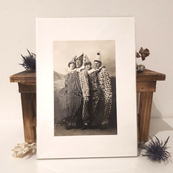 Clown Four - A5 archival print by Wishpom