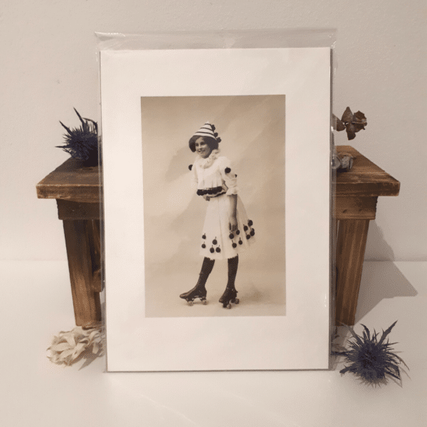 Skater Girl A5 Print on cotton rag paper using archival ink by Wishpom