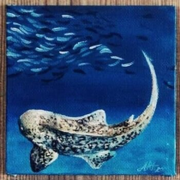Leopard Shark original artwork on canvas by Adriana Artmeier