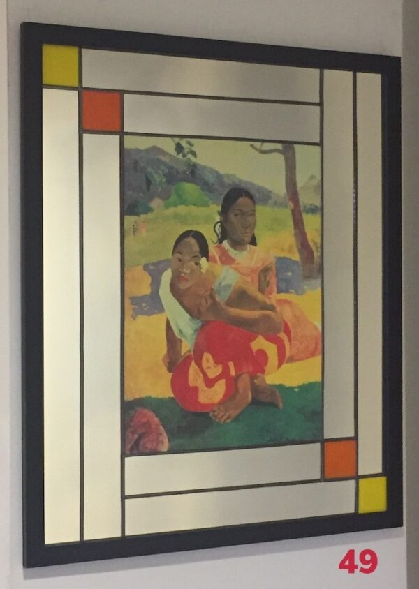 Mirror, lead and wood frame by Gasey Baffsky with Paul Gauguin Print by i frame u hang