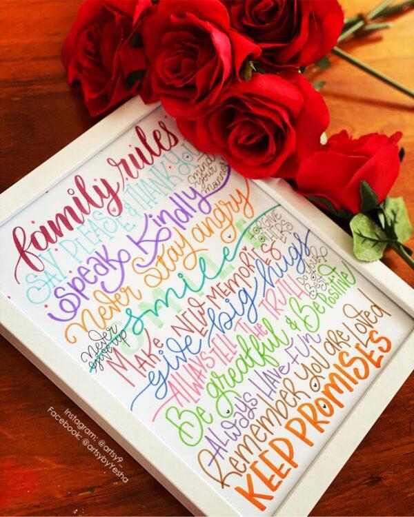 family-rules-frameby-artsy-by-yeshapatel