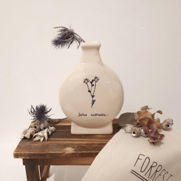 Ceramic small vase lotus australis by Forrest Girl
