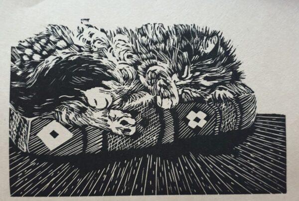 peg-sleeping-cat-lino-print-by-wonga-press-by-Kaz
