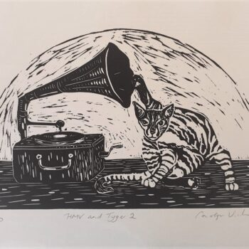 hmv-and-tyger-2-vintage-inspired-cat-lino-print-by-Kaz