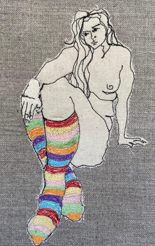 ms-stripey-socks-embroidered-textile-artwork-by-juliet-d-collins-fitzroy-by-julietdcollins