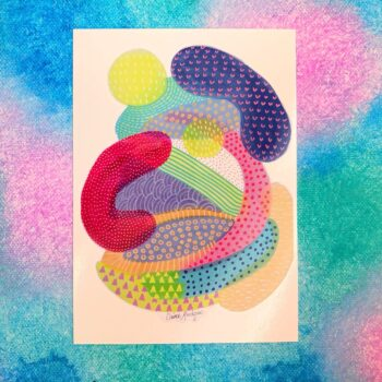 jellybeans-abstract-postcard-by-claire-monique-by-byclairemonique