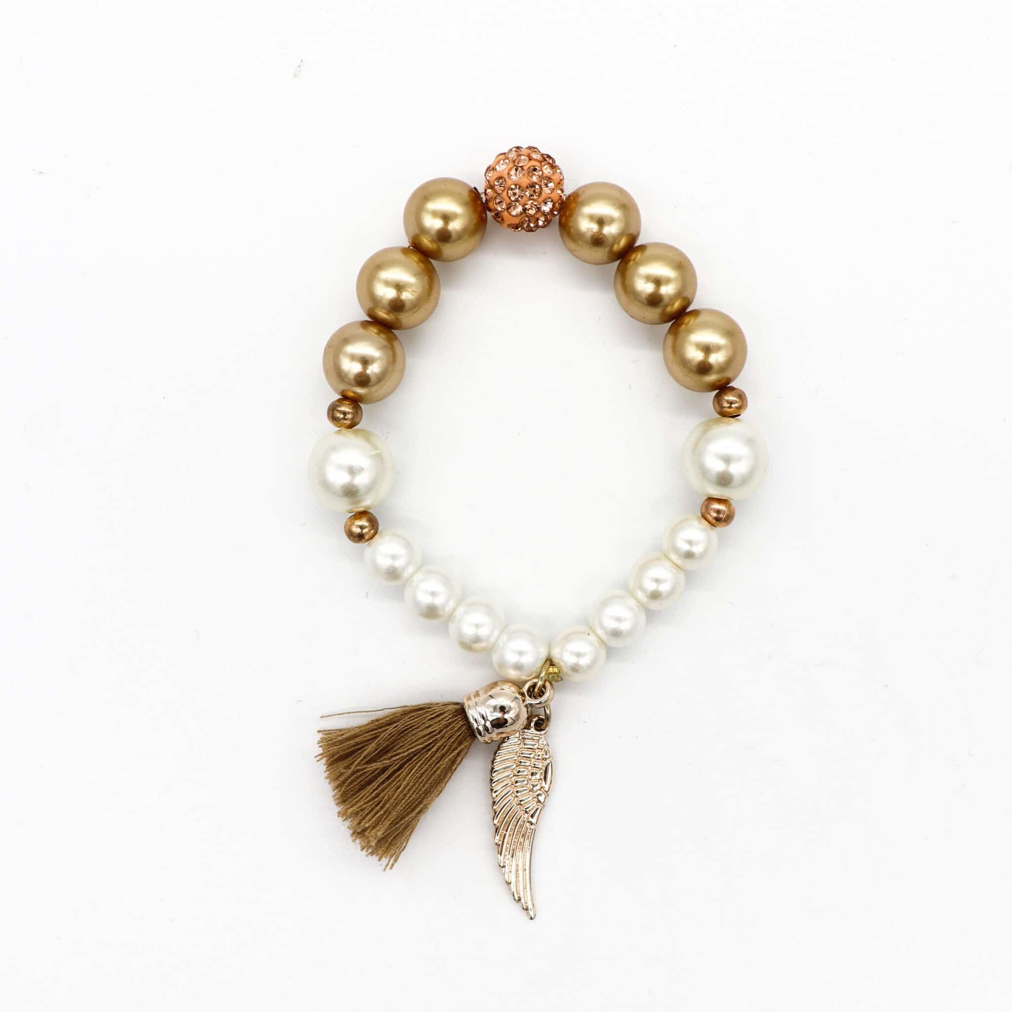 Pearl Angel Winged Stretched Bracelet By BJewel*Co