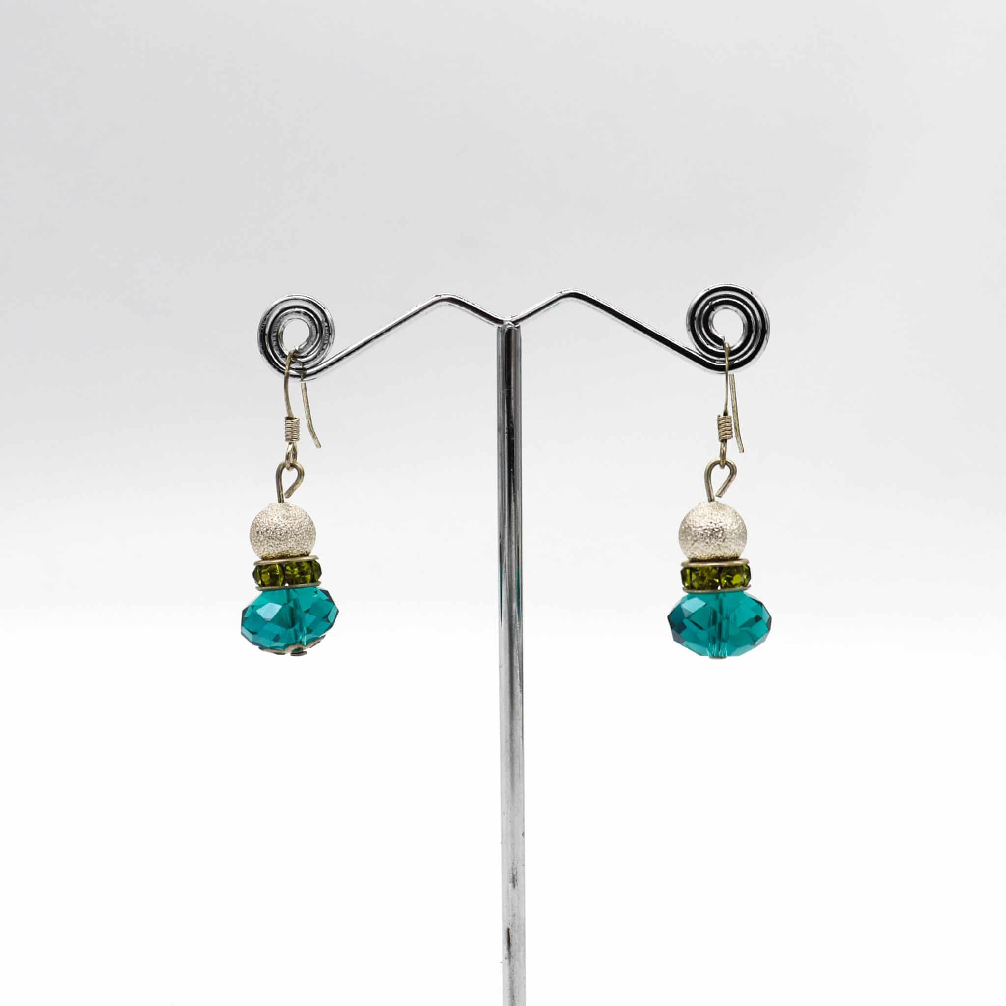 Shimmy Emerald Lime Earrings By BJewel*Co