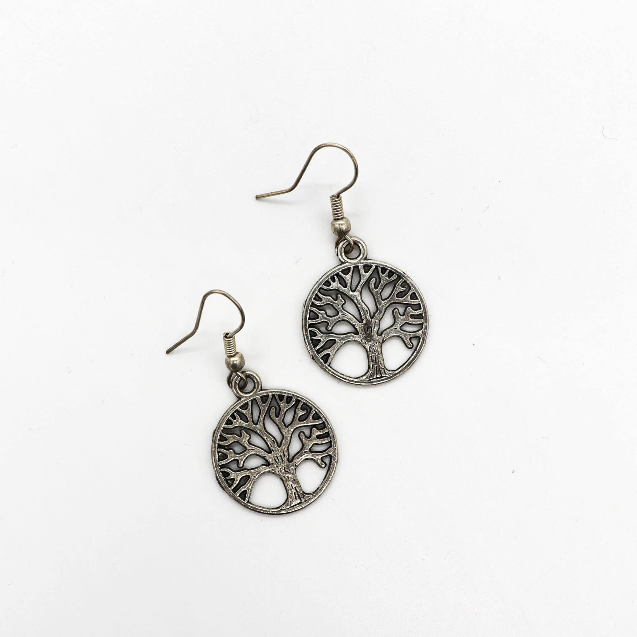 Silver Tree Of Life Earrrings By BJewel*Co