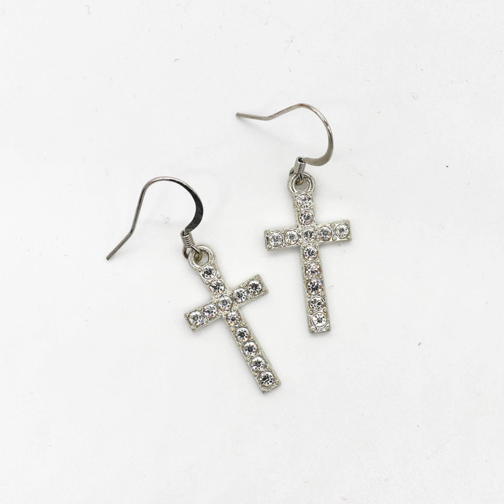 Diamantè Cross Earrings By BJewel*Co