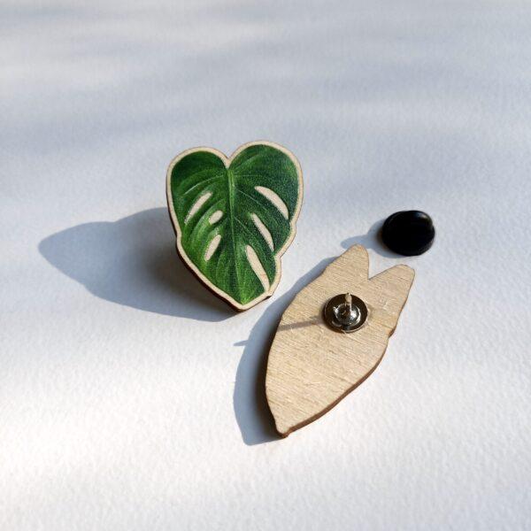 monstera-deliciosa-wooden-pin-by-Rebecca Pidgeon