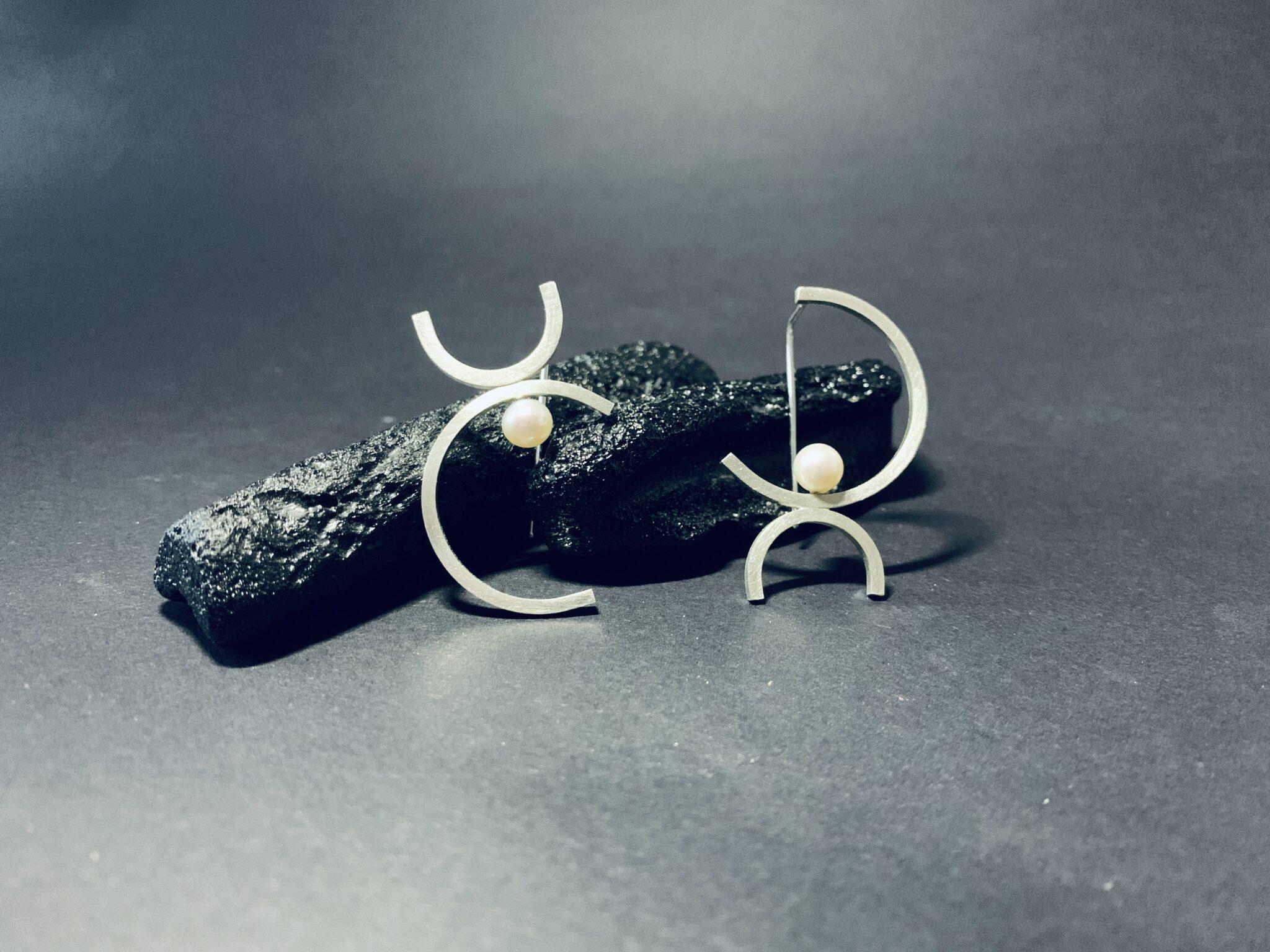 Hook Pearl Earrings By DORAMENDA