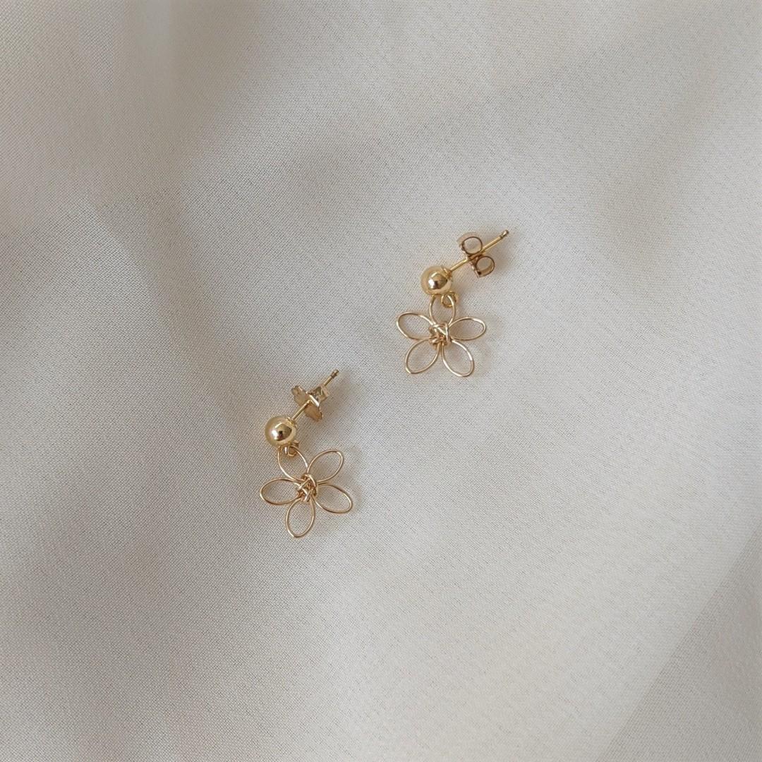 Wildflower Earrings – Gold Filled By Little Hangings