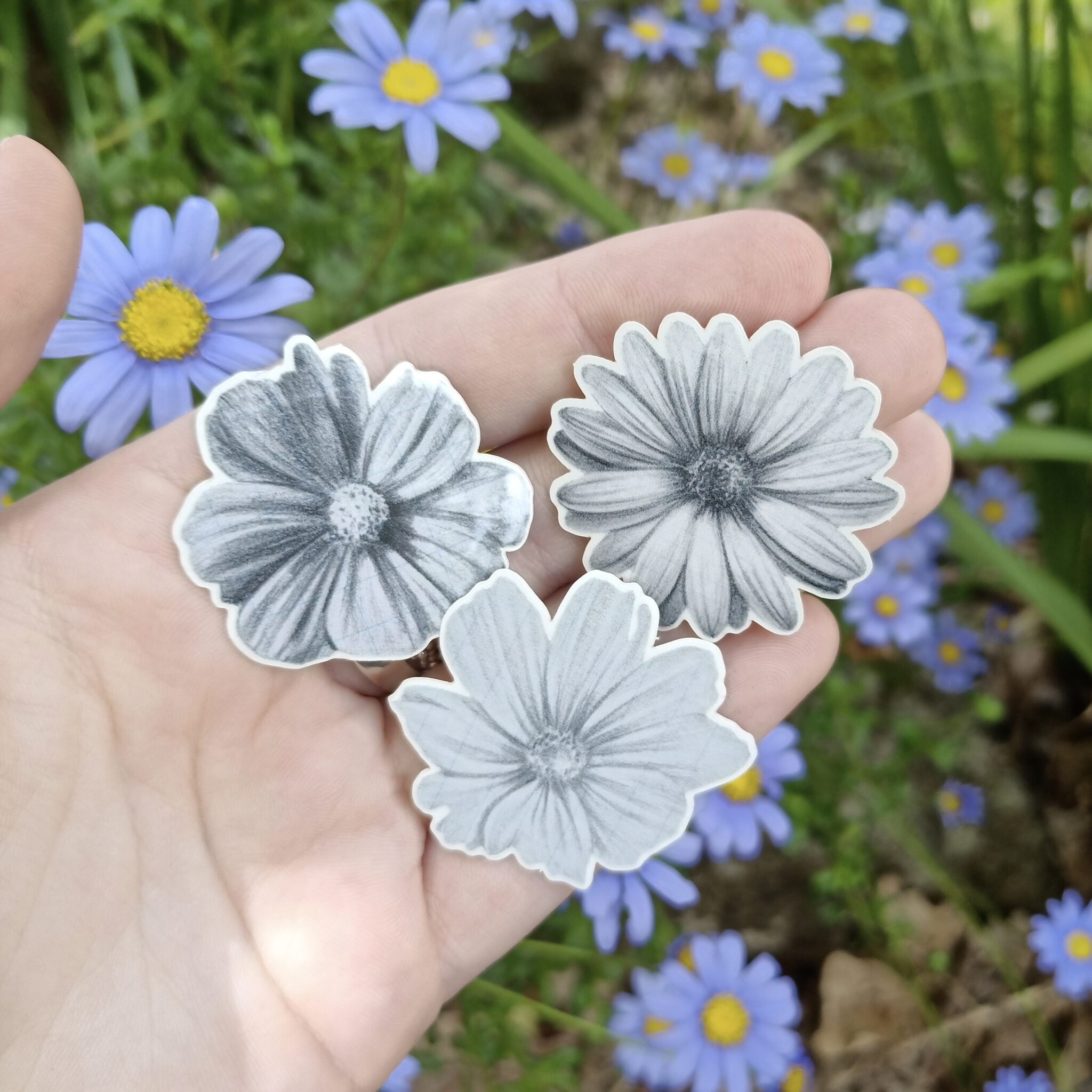 Bouquet Flower Transparent Stickers By Rebecca Pidgeon