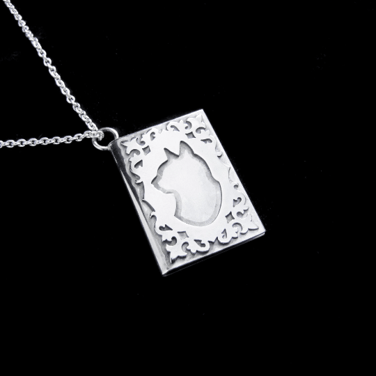 Cat Tales – Silver Cat Book Locket Necklace By Skadi Jewellery Design