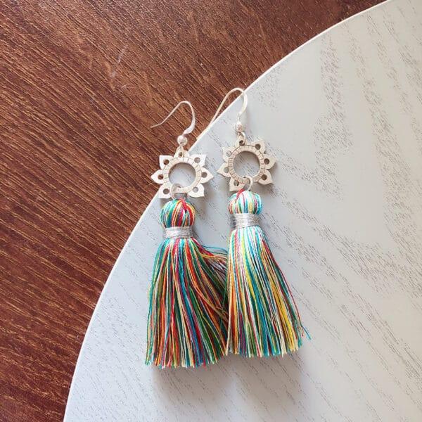 mandala-petals-rainbow-tassel-earrings-by-AshleyChloe
