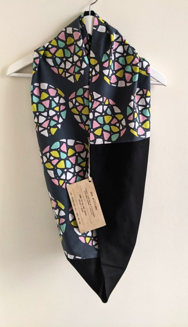 Colourful Cotton Infinity Scarf - Kaleidoscope Print by Ana Williams