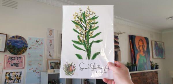wattle-2-a4-art-print-botanical-collection-sarah-sheldon-art-by-a-vibrant-nest-by-avibrantnest