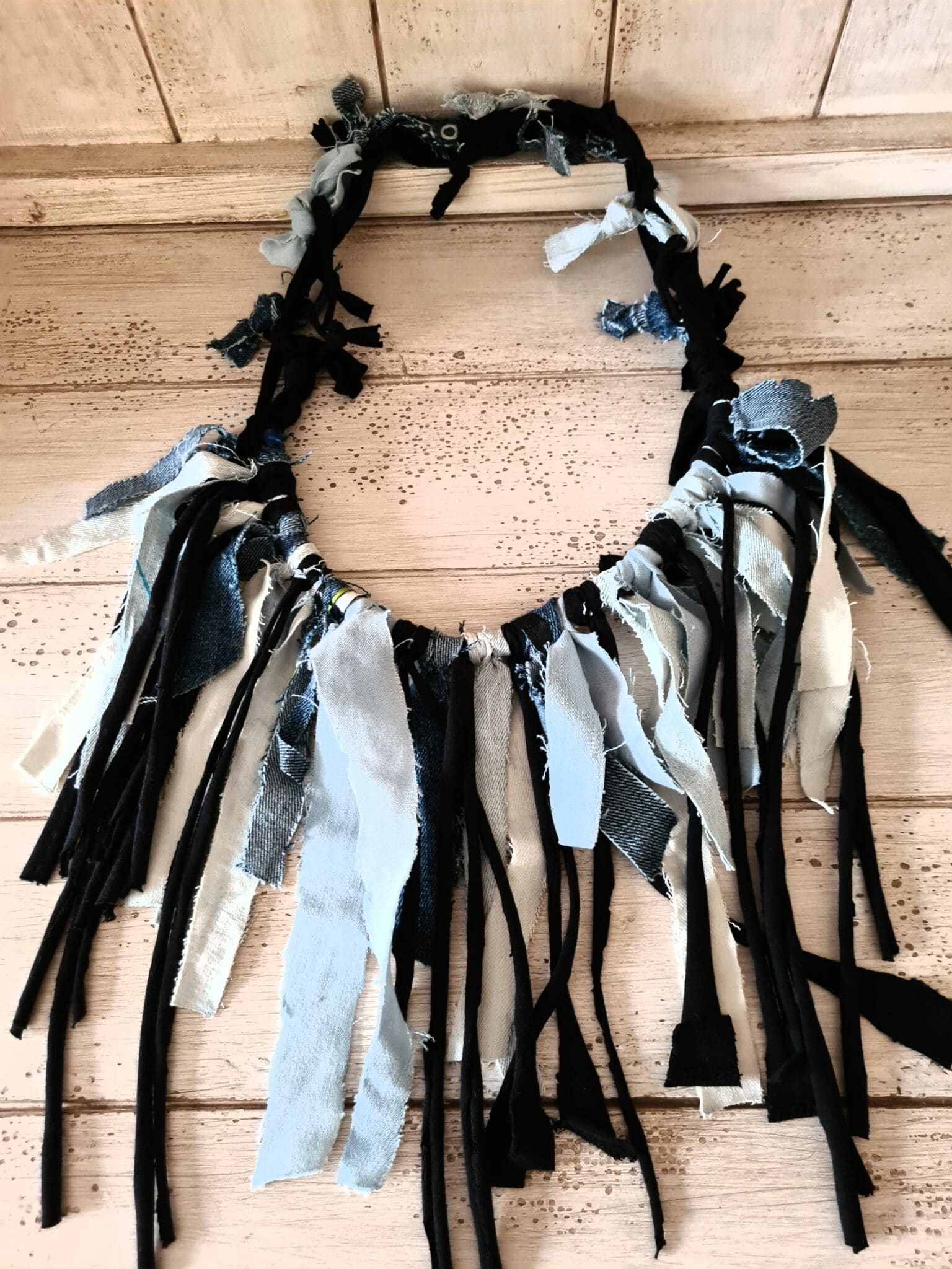 Upcycled Denim Necklace By Being Benign