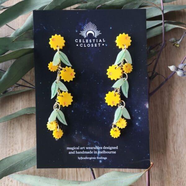 golden-wattle-charm-drop-earrings-by-celestial-closet-by-christine