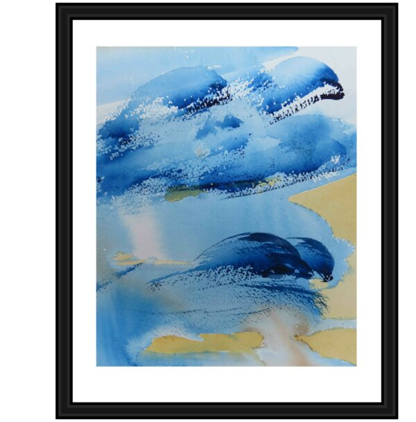 dolphins-in-port-phillip-bay-limited-edition-giclee-print-by-watercolour-artist-carin-lavery-by-Carin Lavery