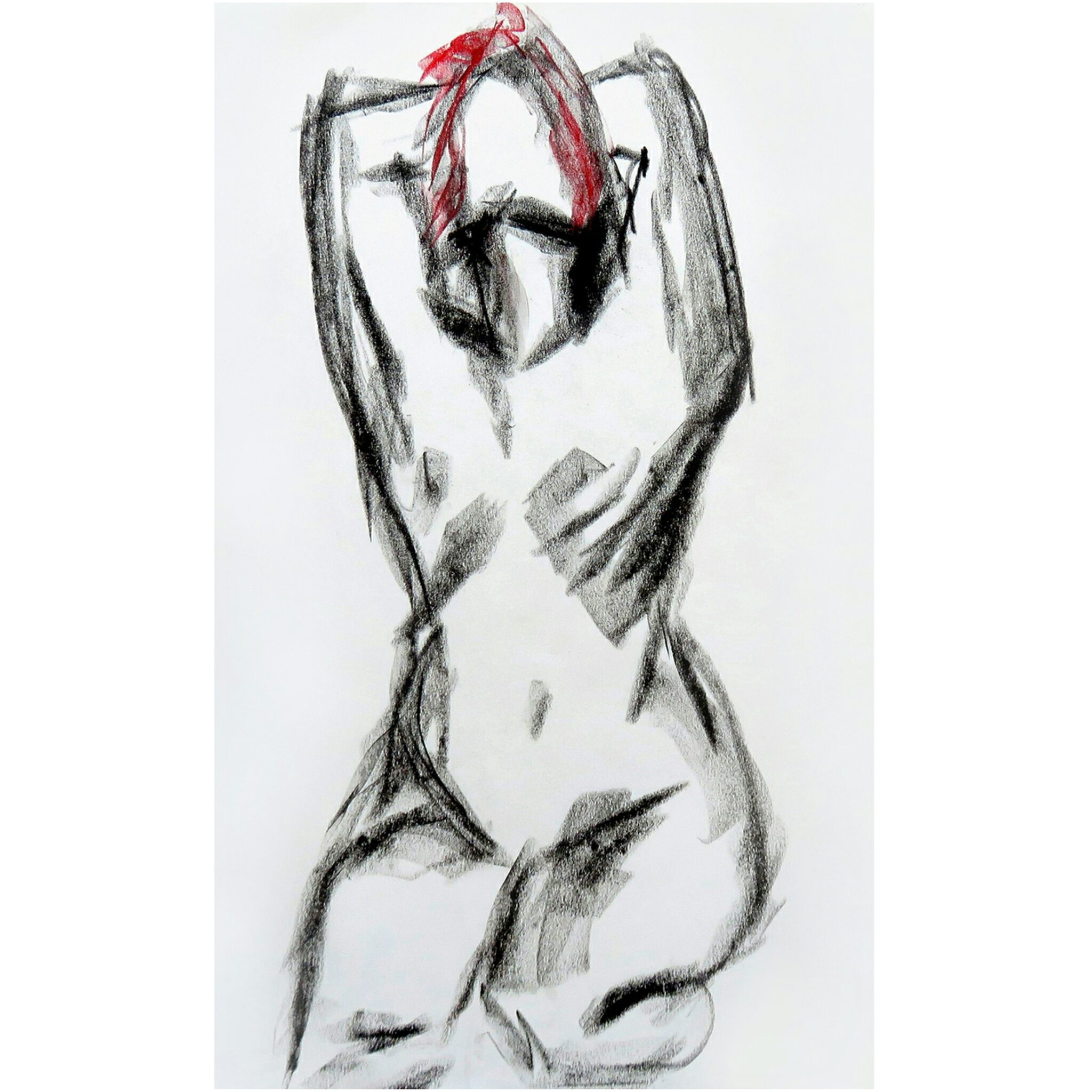 Charcoal Life Drawing.  A Limited Edition Giclée Print By Artist Carin Lavery