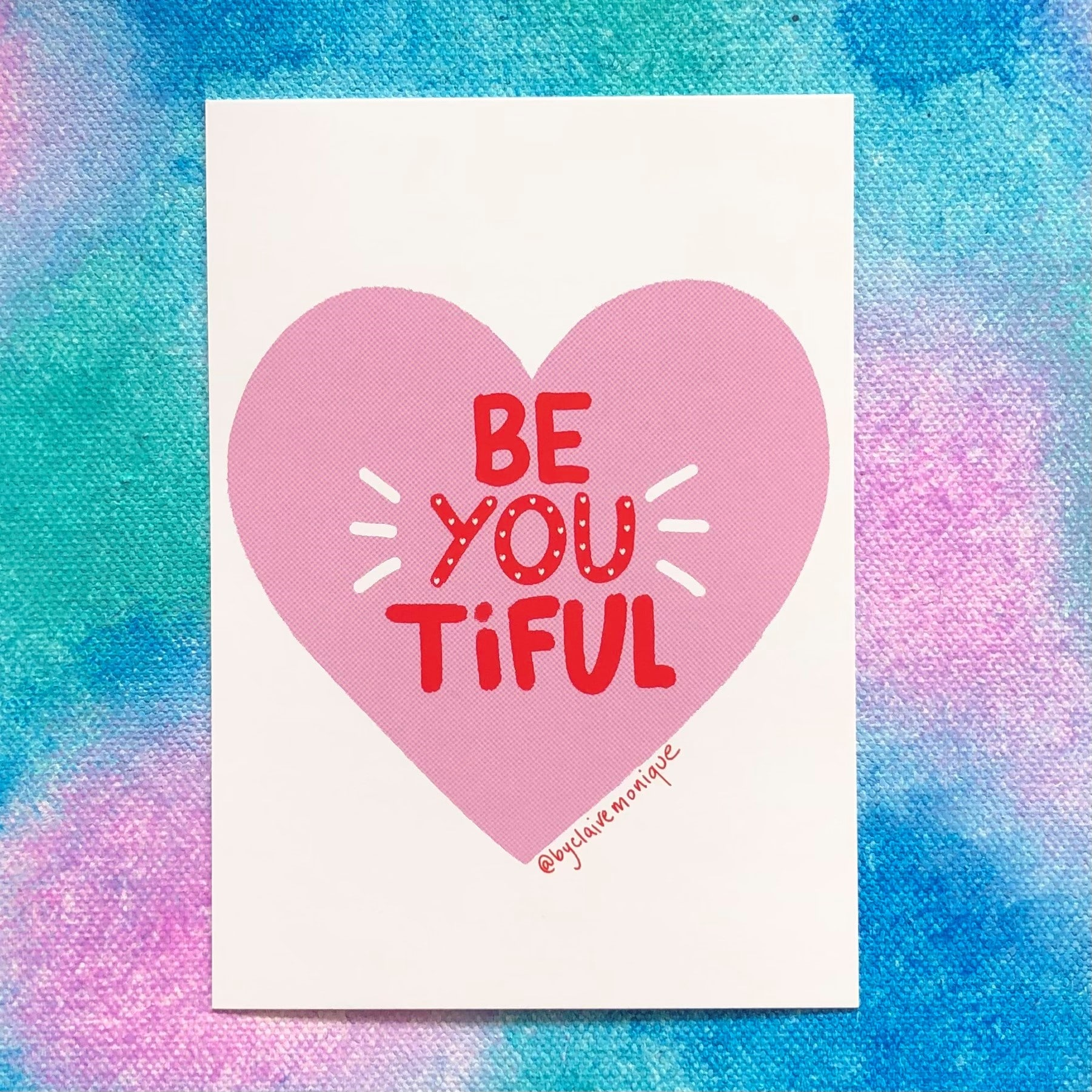 Be-You-tiful Postcard By Claire Monique