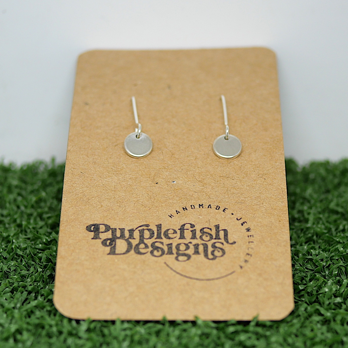 Tiny Dot Earrings – Handmade Sterling Silver Earrings By Purplefish Designs