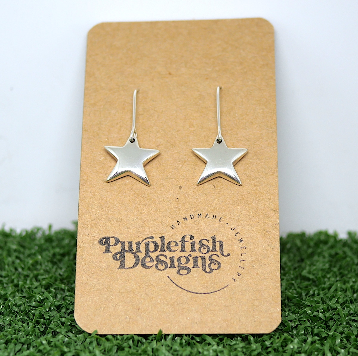 Star Earrings – Handmade Sterling Silver Earrings By Purplefish Designs