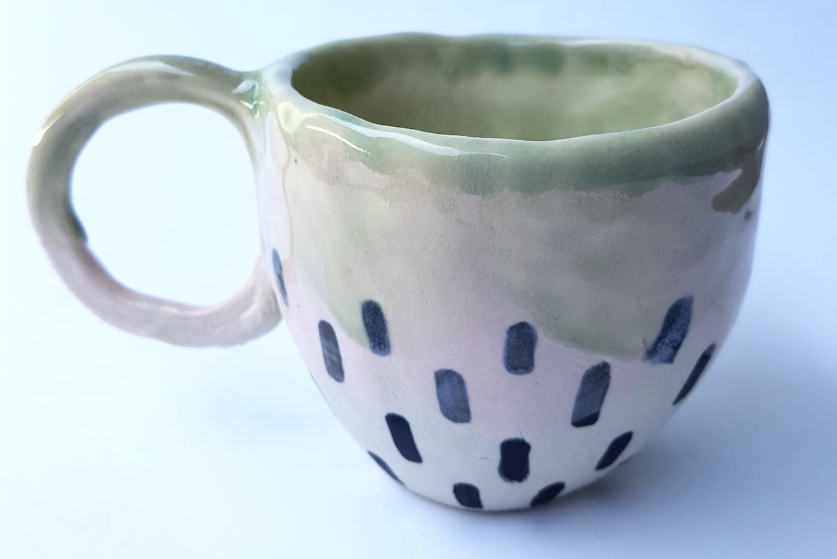 Large Dotted Mug By Get Fired Up Art