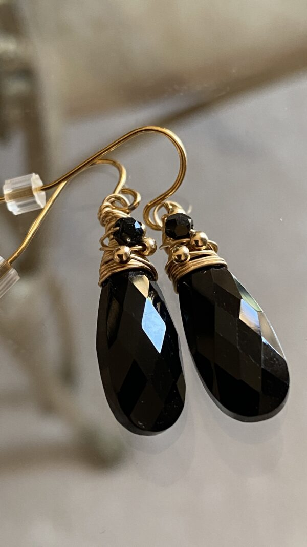 black-onyx-faceted-drop-earrings-swarovski-crystals-hand-wrapped-14k-gold-filled-by-covetanddesire