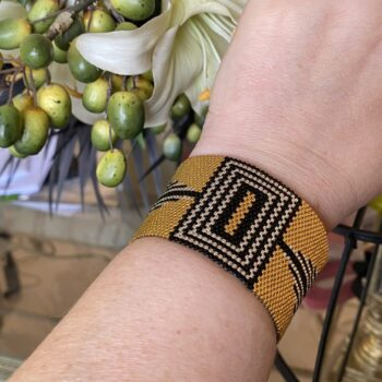 art-deco-inspired-24k-gold-bracelet-sterling-silver-and-black-wide-cuff-handmade-by-covetanddesire