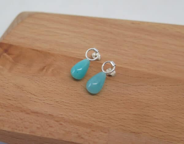 amazonite-drop-stud-earrings-by-germanoarts-by-Germano Arts