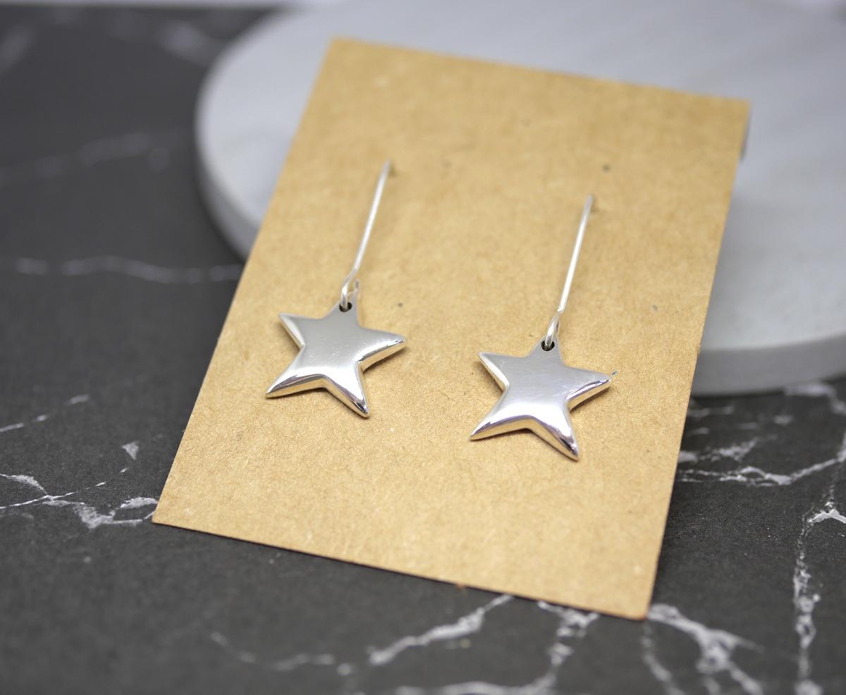 Star Earrings – Handmade Sterling Silver Earrings By Purplefish Designs
