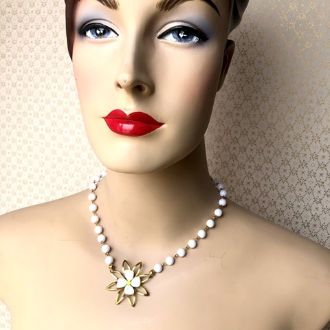 """Blossom"" Reimagined Vintage Necklace By My Vintage Obsession"