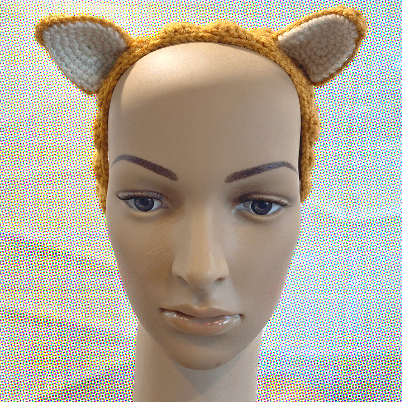 Crochet Fox Eared Headband (small) Made By Out Of My Mind Crochet