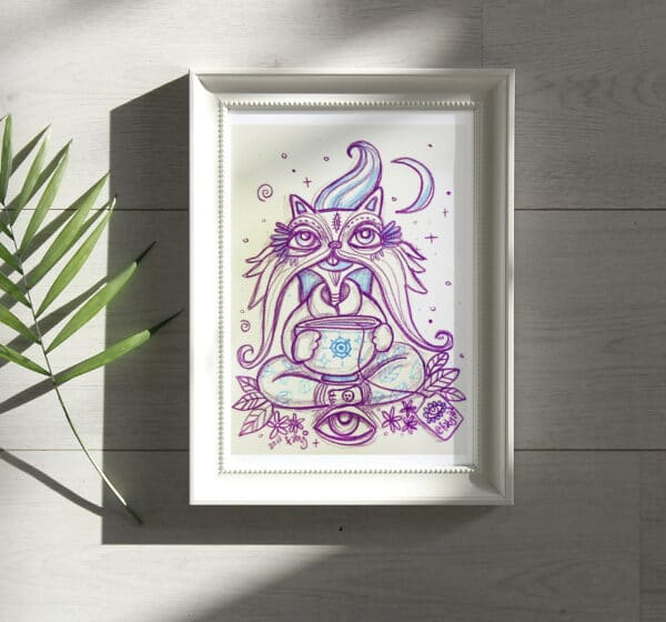 art-print-zen-cat-by-fabyibz