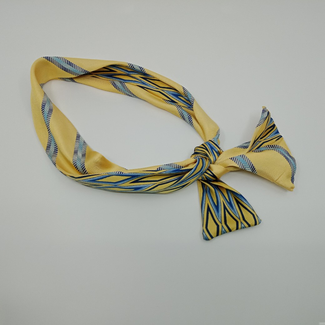 Lemon Silk Headband By Judith Scott Upcycling