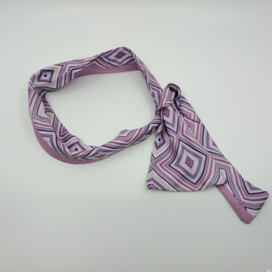 Mauve Silk Headband By Judith Scott Upcycling